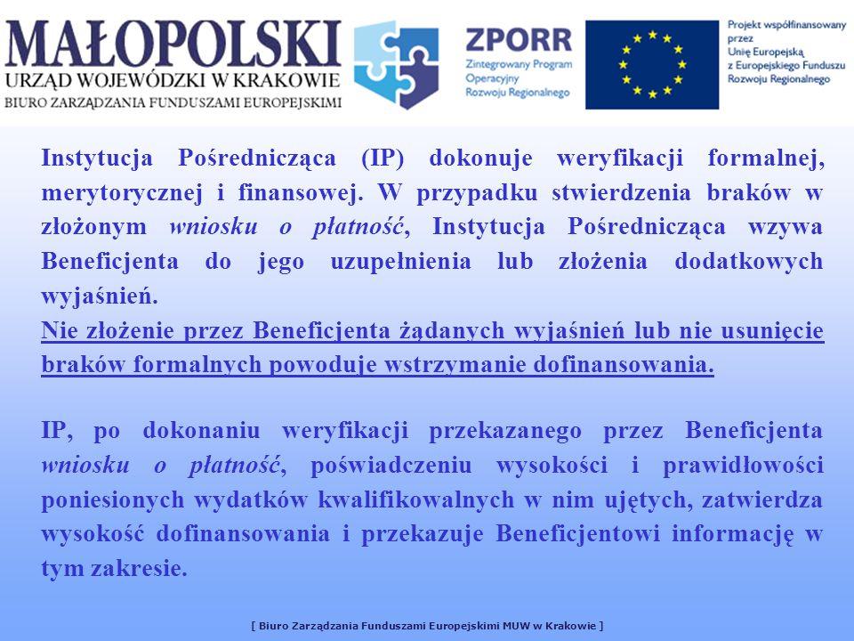 [ Biuro Zarządzania Funduszami Europejskimi MUW w Krakowie ]